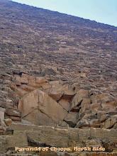 Photo: Ingang tot de piramide van Cheops