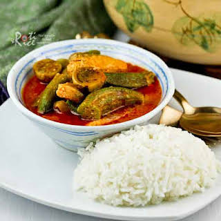 Fish Curry with Okra and Eggplant.