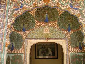 Photo: Jaipur - City Palace Pawia Brama (Peacock's Gate)