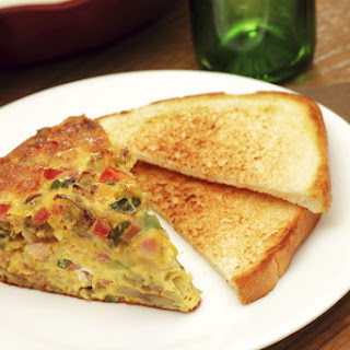 Fiesta Egg Casserole with Green Chile and Cheese.