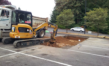 Photo: Excavation was down to about 27 inches below existing grade throughout the trench.