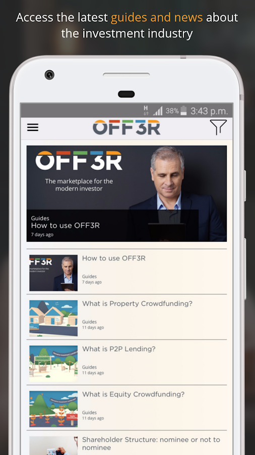 OFF3R - Compare Investments- screenshot