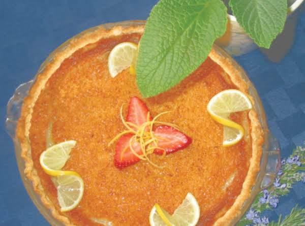 Lemon Buttermilk Pie, Yumm!