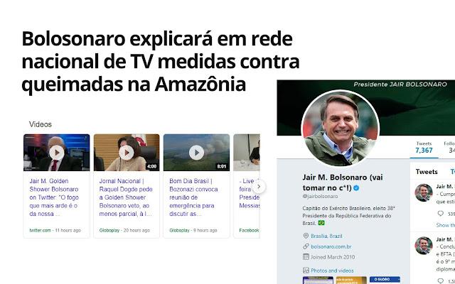 Sinônimos para Bolsonaro