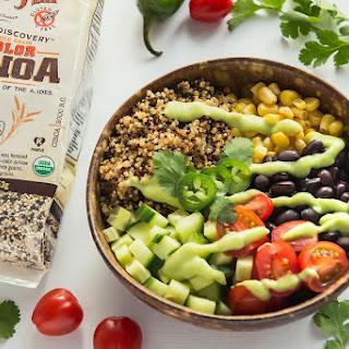 Mexican Quinoa Bowl with Avocado Salsa.