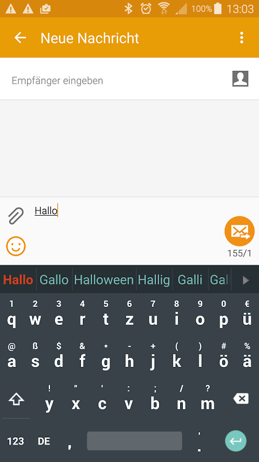 German for Smart Keyboard- screenshot