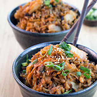 Two-Ingredient Kimchi Fried Rice.