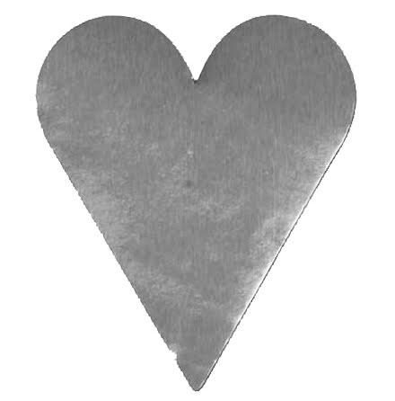Etikett hjärts stort silver