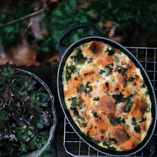 Kale And Sausage Bread Pudding