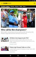 Screenshot of BBC Sport