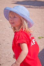 Photo: Ori, wearing her staff shirt at Passover in Moab.