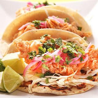 Crunchy Fried Fish Tacos.