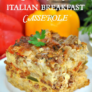 Slow Cooker Italian Breakfast Casserole + a Giveaway!.
