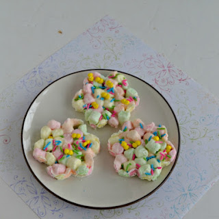 Colorful Marshmallow Easter Fudge.
