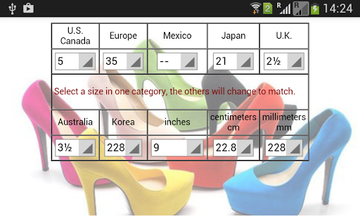 Women Shoes Size