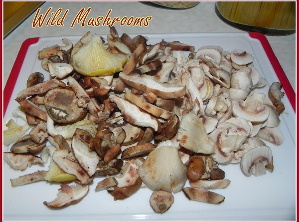 Get your shrooms ready. I chopped up some of mine to smaller size.