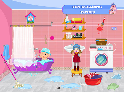 Pretend Play Doll House: Town Family Mansion Fun android2mod screenshots 12