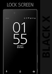 BLACK X Xperia Theme - náhled