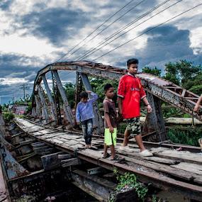 My Bridge by Kesuma Wijaya - Babies & Children Children Candids ( human interest, spirit, street scene, bridge )