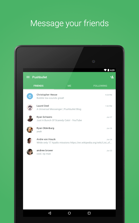 Pushbullet - SMS on PC: captura de pantalla