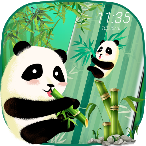 Cute Panda- lock screen theme Icon