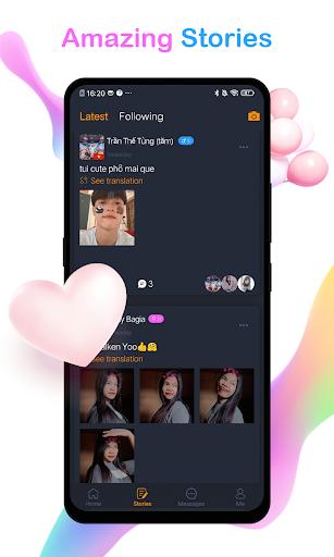 تطبيق WOMO للدردشة والتعارف عبر الإنترنت للحصول على لقطات شاشة مجانية 3