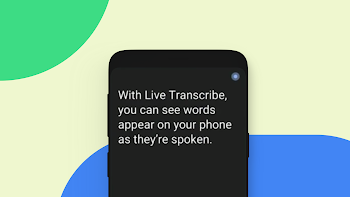 Live Transcribe screen