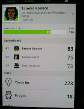 Photo: i checked in so much today I hit #1 of all my Foursquare friends - a first for me!