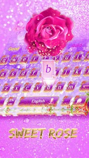 Sweet rose petal love keyboard - náhled