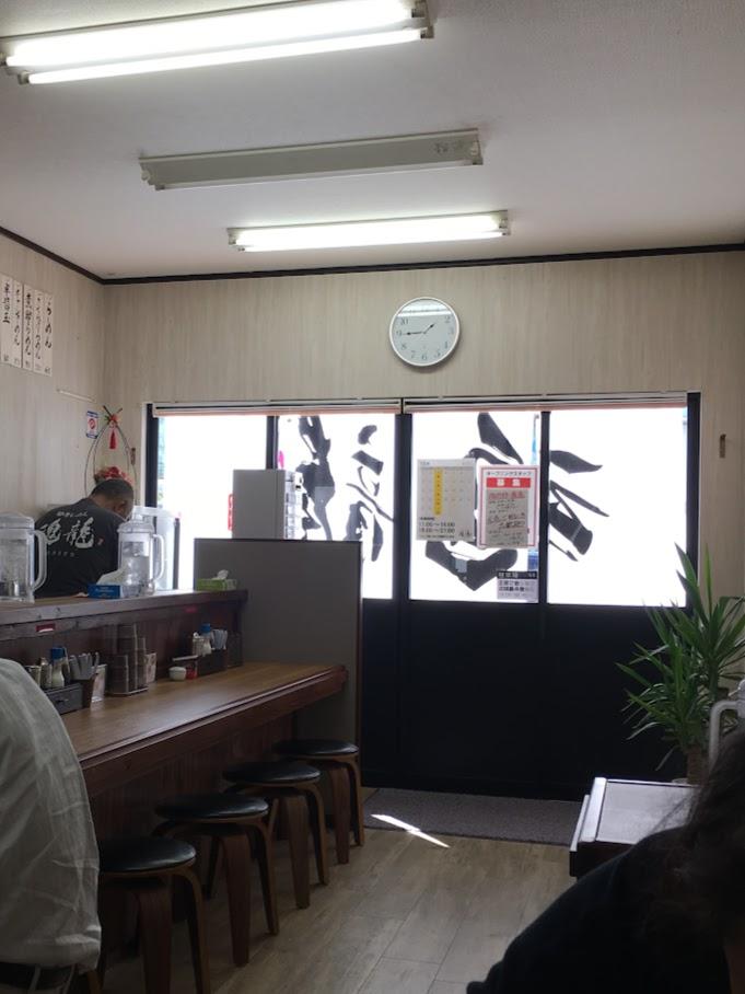 豚骨ラーメン魂龍(こんりゅう)の店内