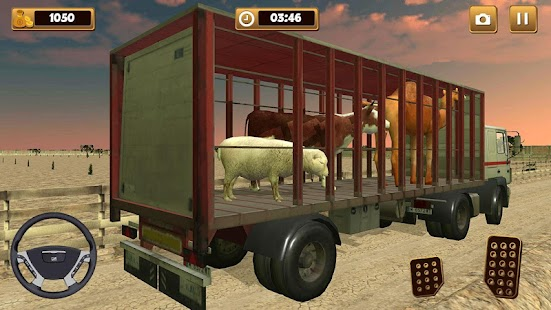 farm and zoo animal transport truck - náhled
