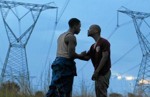Inxeba, a film about initiation into manhood stars Bongile Mantsai, who plays Vija, and right Nakhane, who plays Xolani.