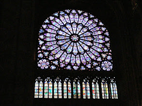 Photo: And here, the rose window which we saw from the outside on our first day boat trip.