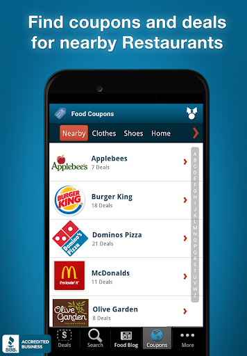 Restaurant Coupons & Deals Screenshot