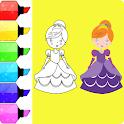 Princess Coloring Book - Easy Coloring icon