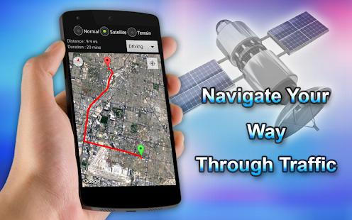Plánovač tras GPS map - náhled