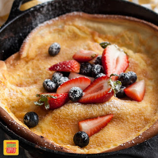 Dutch Baby Pancake with Berries and Cream Recipe