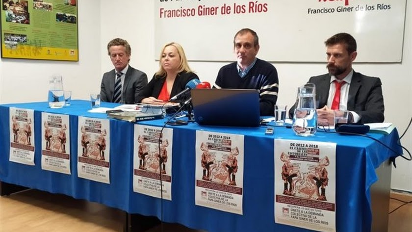 Rueda de prensa de la FAPA Giner de los Ríos.
