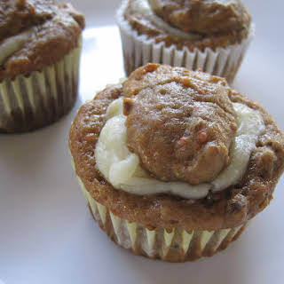 Cream Cheese Filled Carrot Cake Muffins.