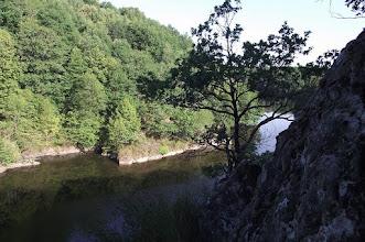 Photo: La creuse ou se trouvait l'ancien barrage de Bonnavaud