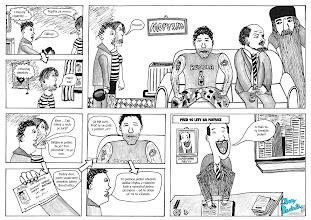 Photo: První stránka příběhu o Johnym Bouchačkovi. Skenováno, upraveny nedostatky, můj rukopis nahrazen fontem (kvůli čitelnosti).  Oficiální stránky http://bouchacka.weebly.com/