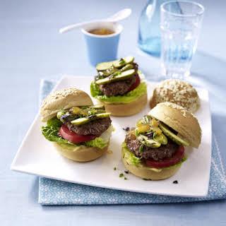 Mini Burgers with Homemade Mayonnaise.
