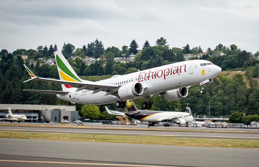 Boeing shared this image to air industry media when Ethiopian Airlines took delivery of its first 737 Max 8 in July 2018