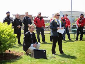 Photo: MC Address (US, Canadian Customs & SAR officials)