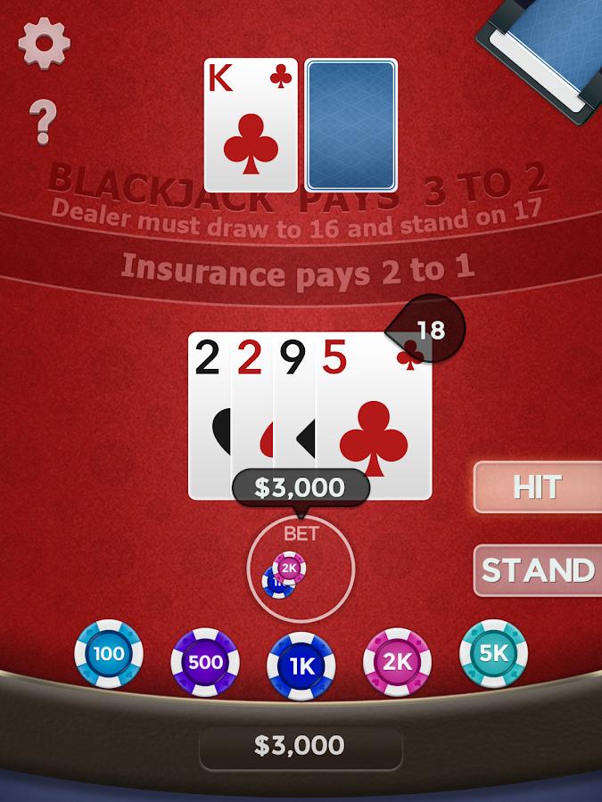 Insurance casino blackjack