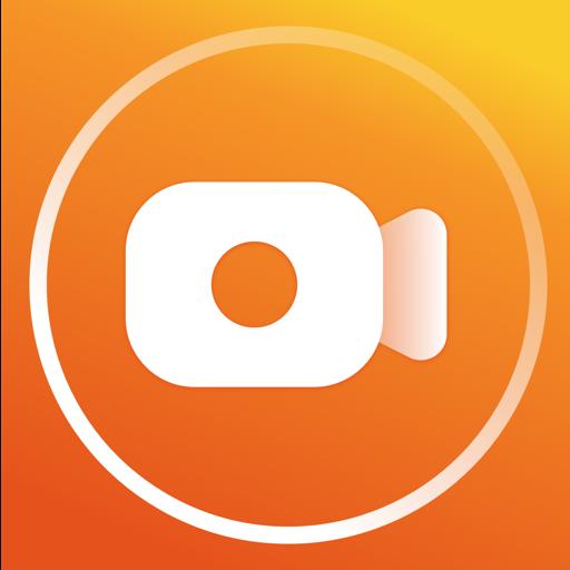 Gravador de tela com som claro, editor de vídeo