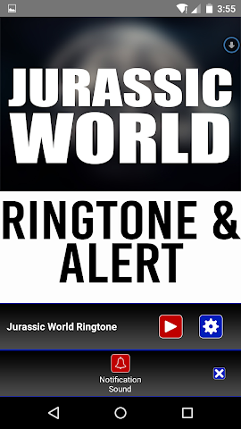 android Jurassic World Ringtone Alert Screenshot 2