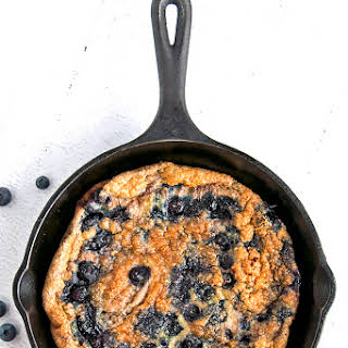 Low Carb Egg Bake with Blueberries and Cinnamon.
