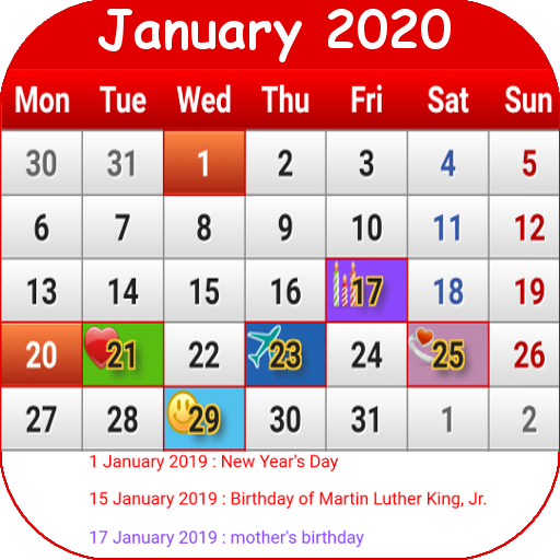 Calendario 2020 Maxim.Us Calendar 2019 Apps On Google Play