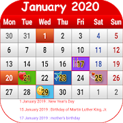 US Calendar 2019